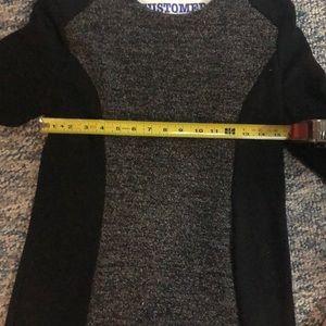 LOFT Dresses - Black and Gray Long Sleeve Dress
